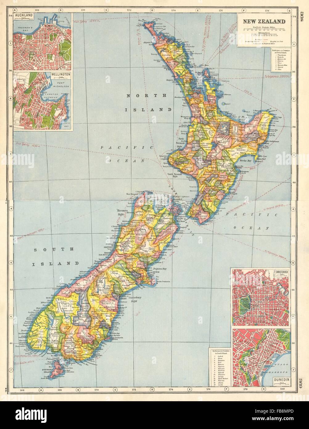 NEW ZEALAND Counties Auckland Wellington Christchurch Dunedin