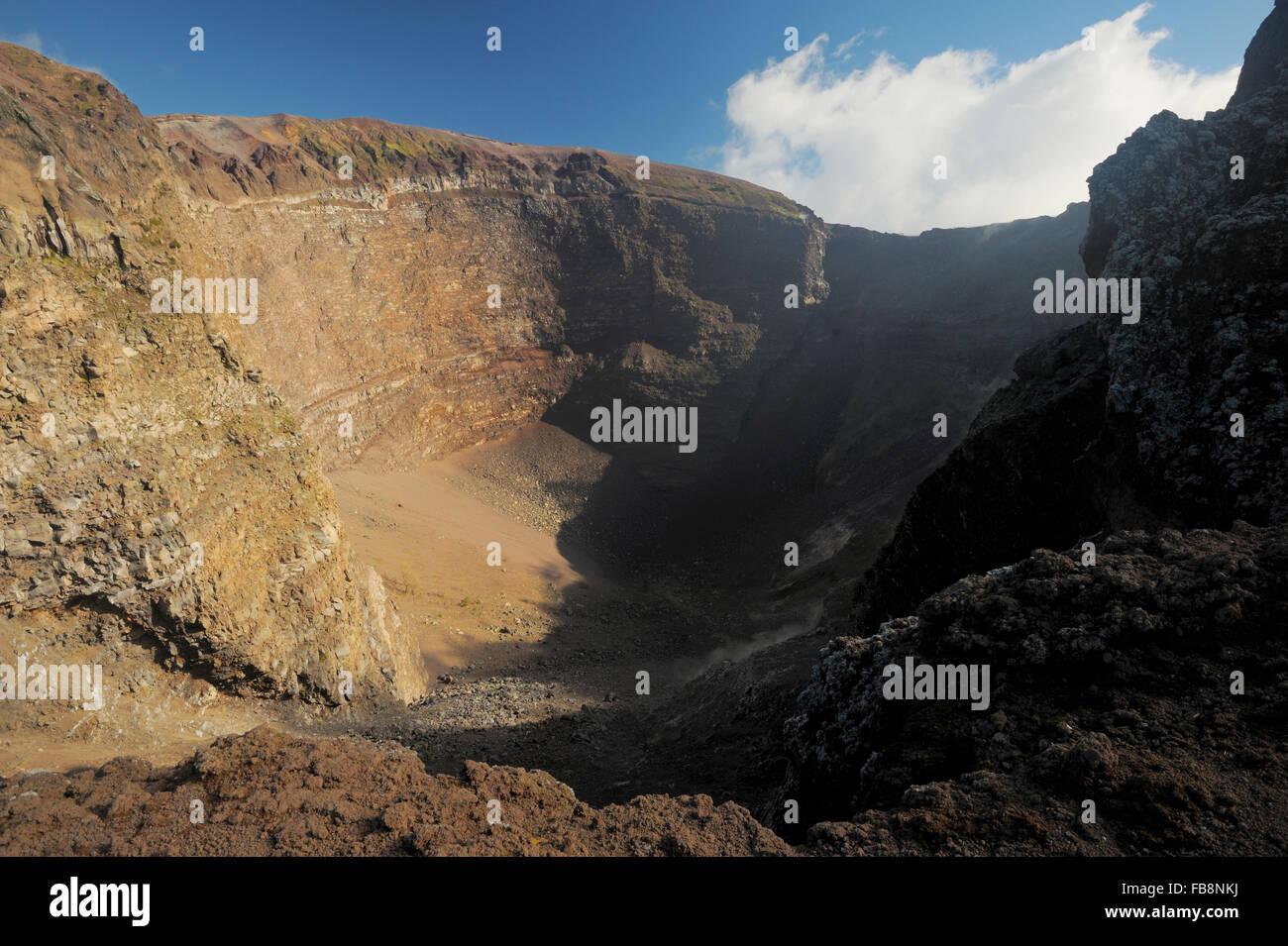 Gran Cono, Monte Vesuvio, Parco Nazionale del Vesuvio, Campania, Italy - Stock Image