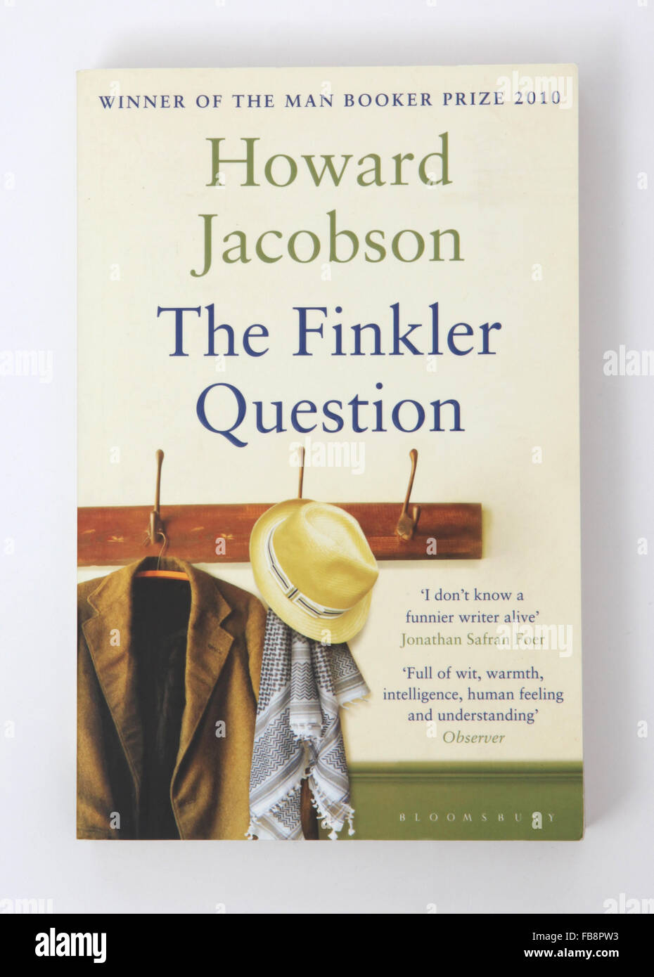 The book - The Finkler Question. Winner of The Man Booker Prize 2010 - Stock Image