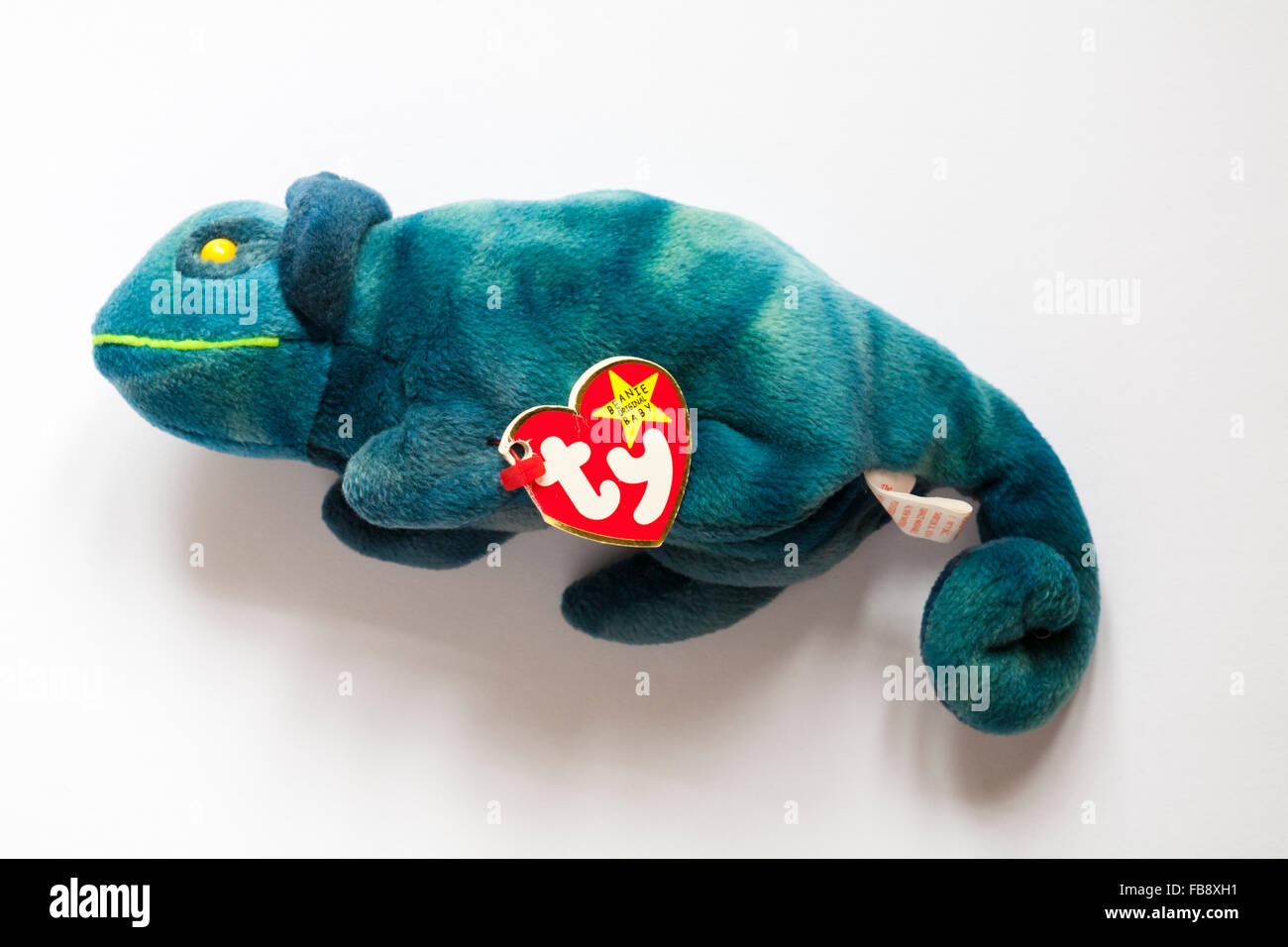 Iggy the ty-dye iguana ty beanie original baby soft cuddly toy isolated on  white background 1f3fa04095b