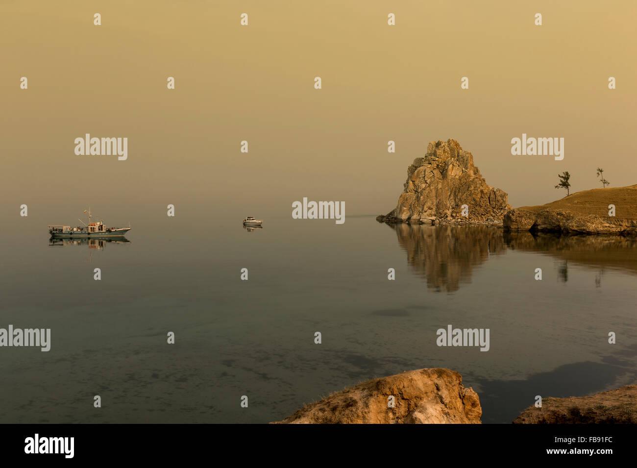 Early morning on Olkhon Island, Lake Baikal - Stock Image