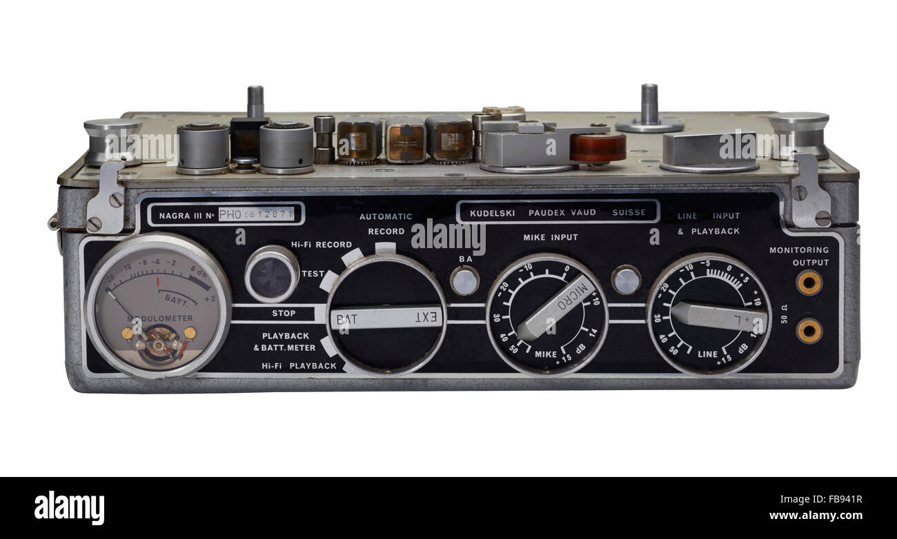 Nagra III tape recorder front view - Stock Image