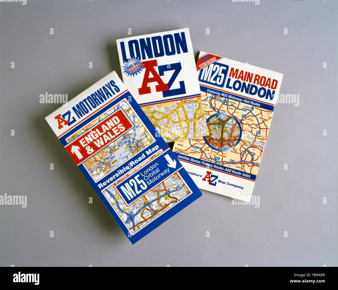 A to Z maps and map books - London and M25 - Stock Image