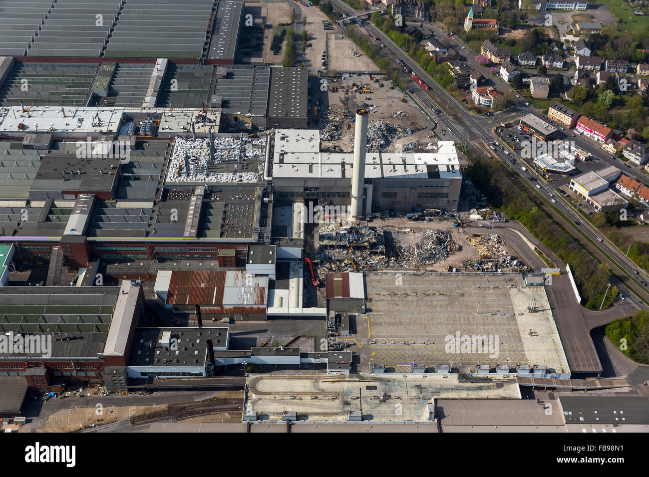 Aerial view, the demolition of the Opel plant in Bochum 1 has begun, Ruhr area Bochum, Germany, Europe, Aerial view, - Stock Image