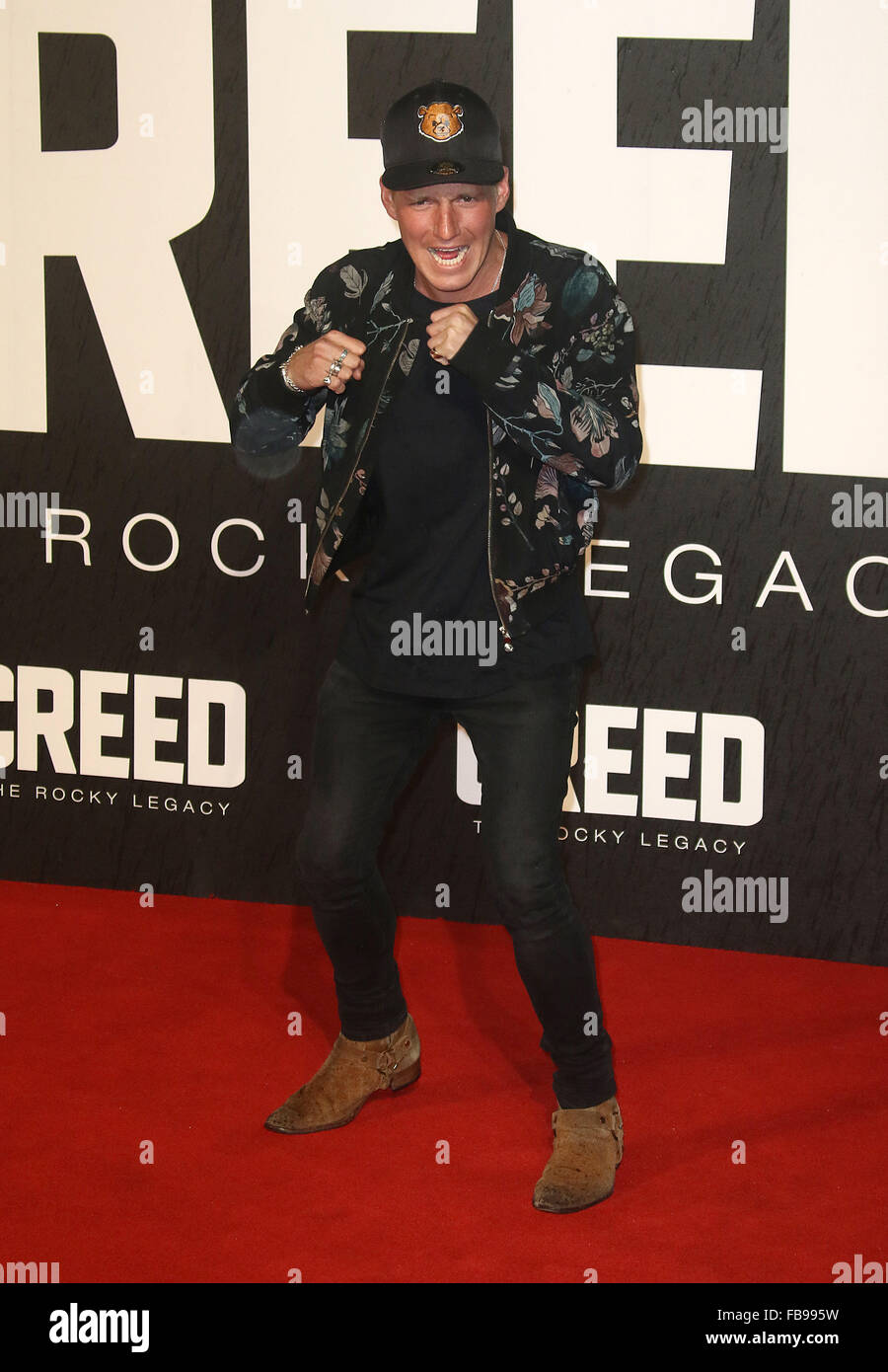 London, UK. 12th January, 2016. Jamie Laing attending 'Creed' European Premiere at Empire Cinema, Leicester Square, Stock Photo