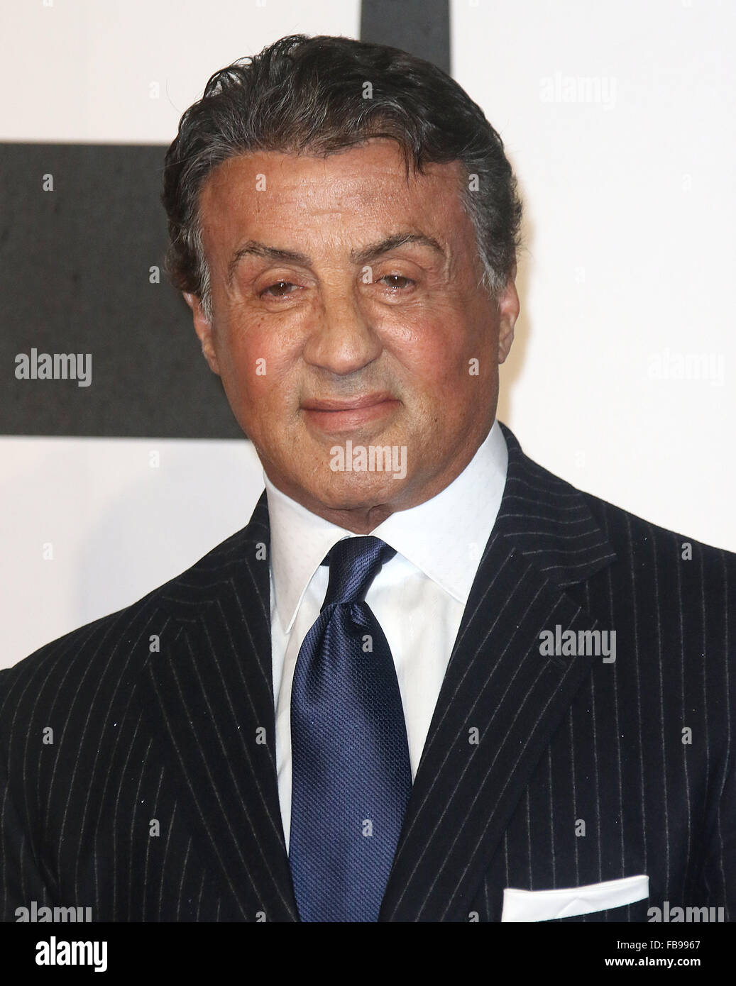 London, UK. 12th January, 2016. Sylvester Stallone attending 'Creed' European Premiere at Empire Cinema, - Stock Image