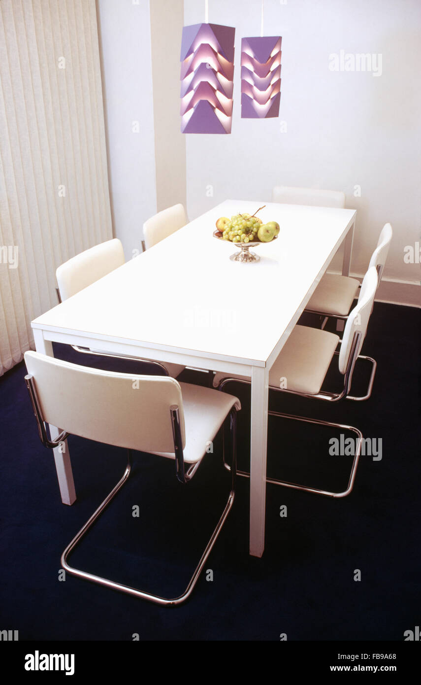 Outstanding Tubular Steel Cantilever Chairs With White Seats At White Lamtechconsult Wood Chair Design Ideas Lamtechconsultcom