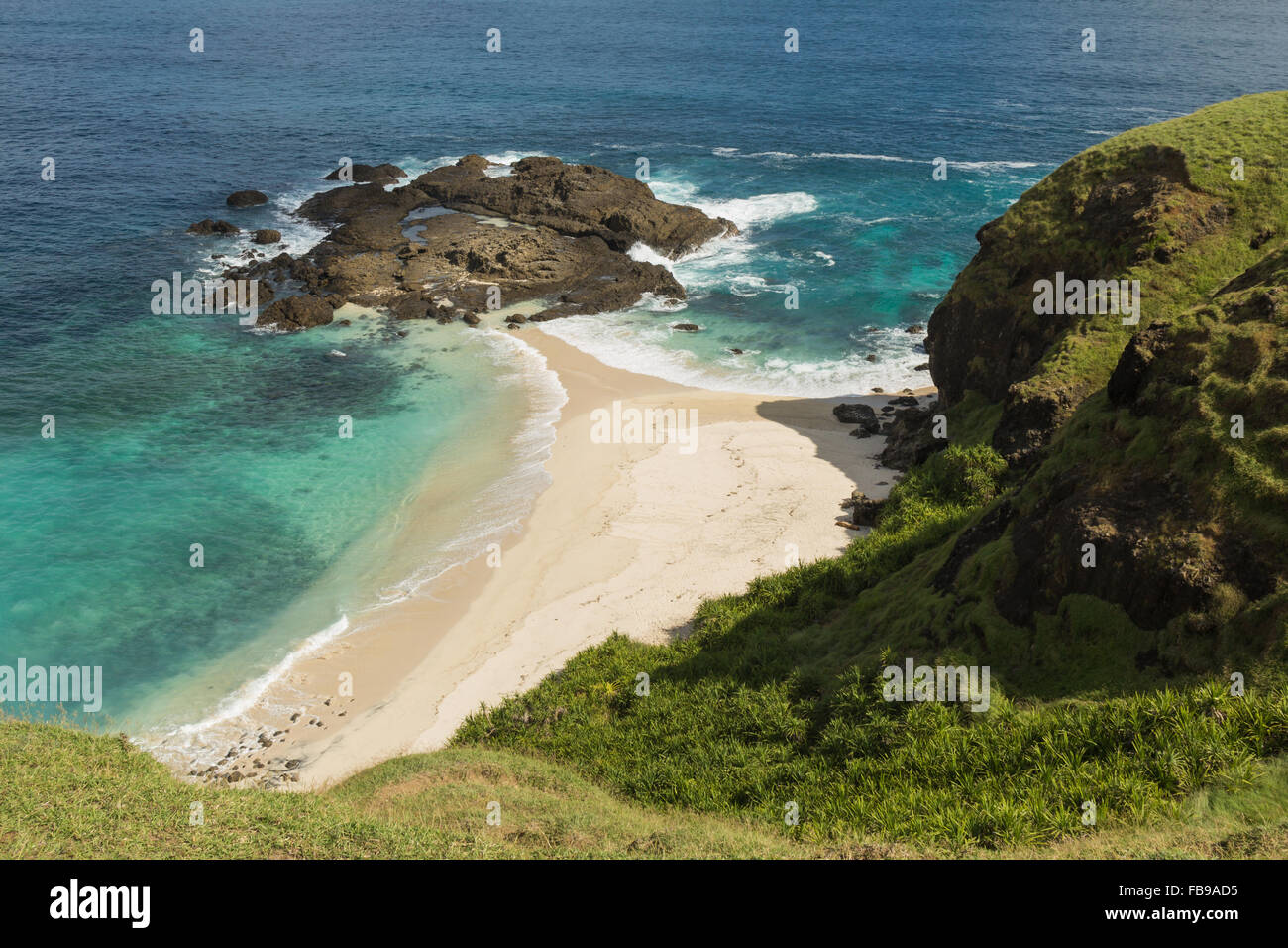 Secluded beach near Tanjung Aan I Lombok I Indonesia - Stock Image