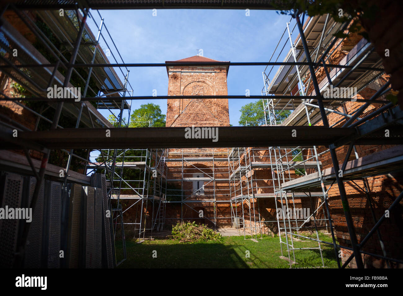 Dorfkirche (Village church), Lossow, Frankfurt (Oder), Germany Stock Photo