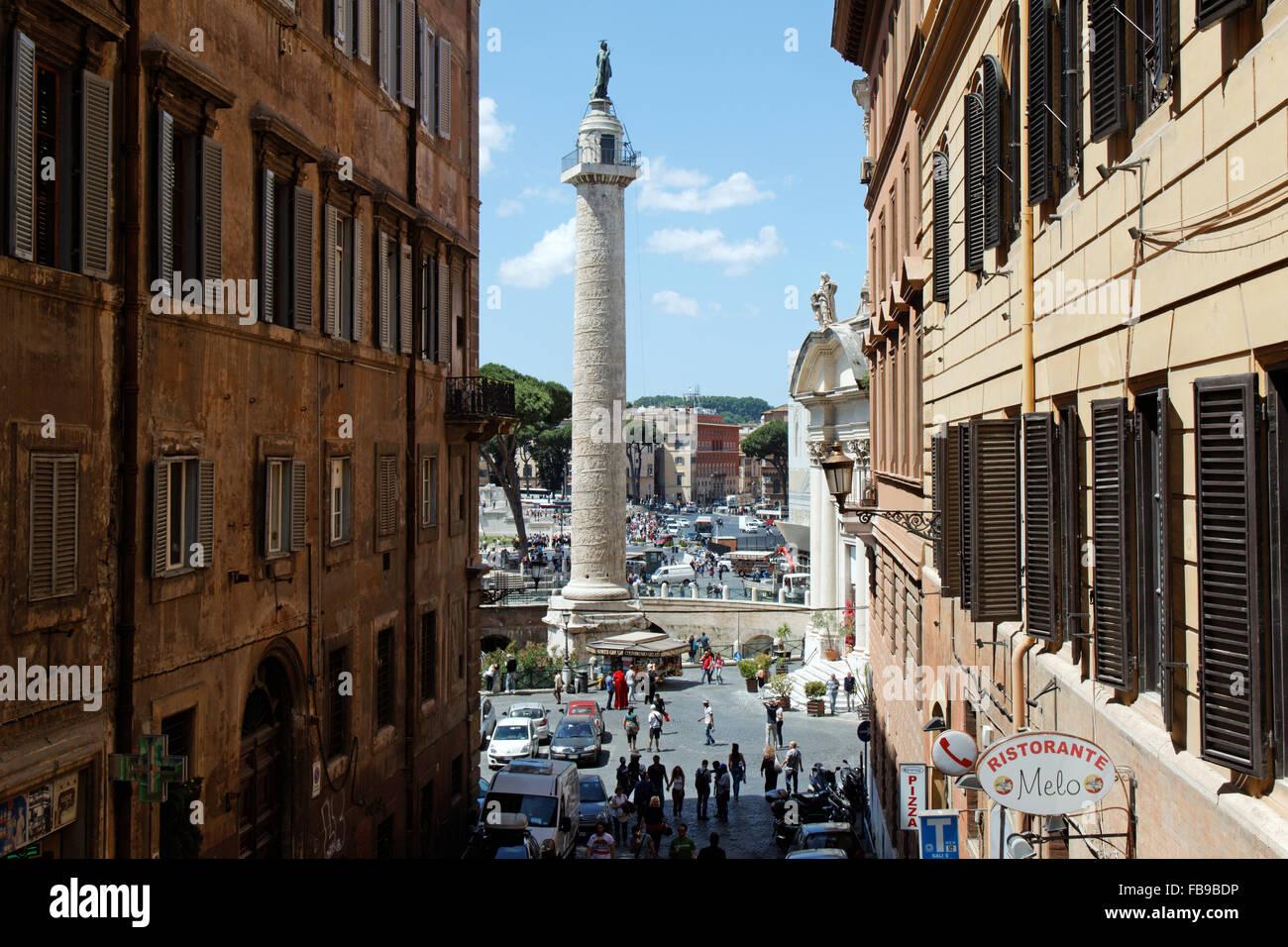 Traiana Column I Rome I Italy Stock Photo
