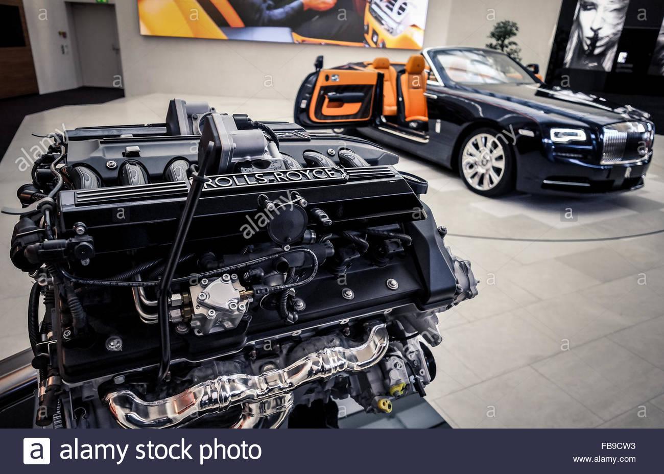 Rolls Royce car limousine - Stock Image