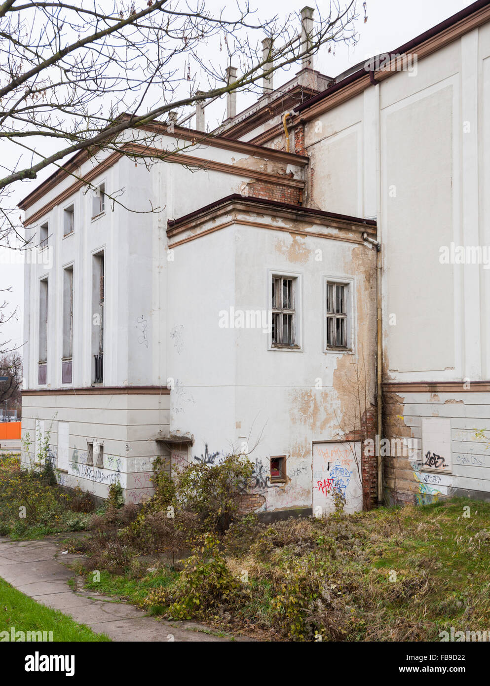 Ruins of the abandoned Lichtspieltheater der Jugend cinema, Frankfurt (Oder), Germany Stock Photo