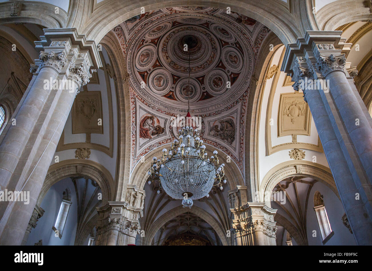 Cathedral, Baeza. Jaen province, Andalucia, Spain - Stock Image