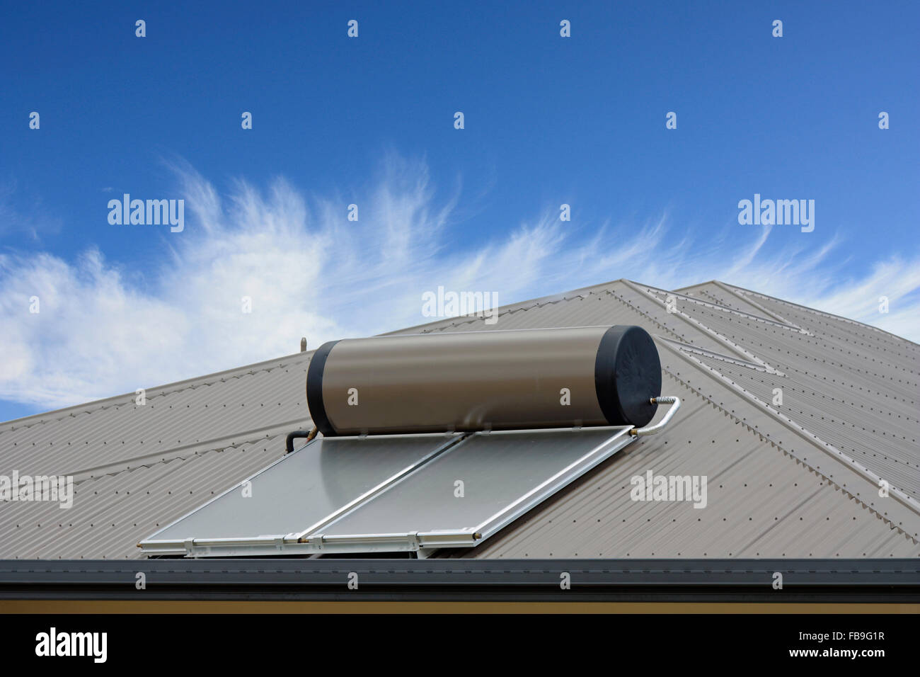 Solar Water Heating Panel Tank Stock Photos Amp Solar Water