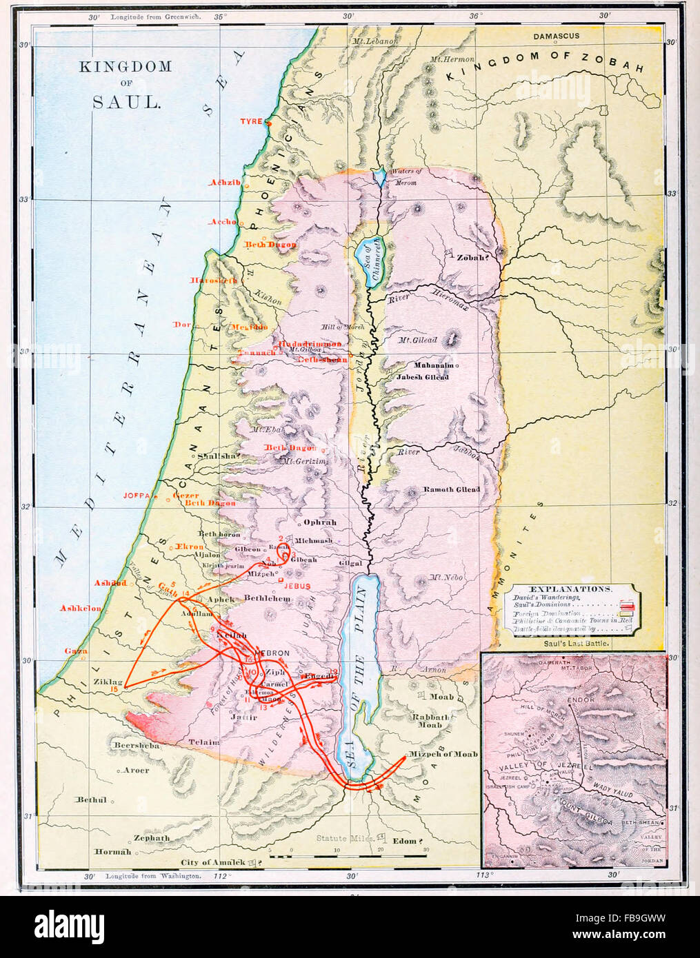 Map of kingdom of saul israel old testament stock photo 93023893 map of kingdom of saul israel old testament gumiabroncs Images
