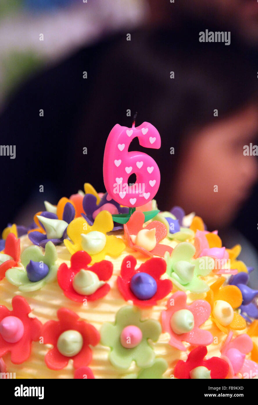 Its A Photo Of Birthday Cake For 6 Years Old Child