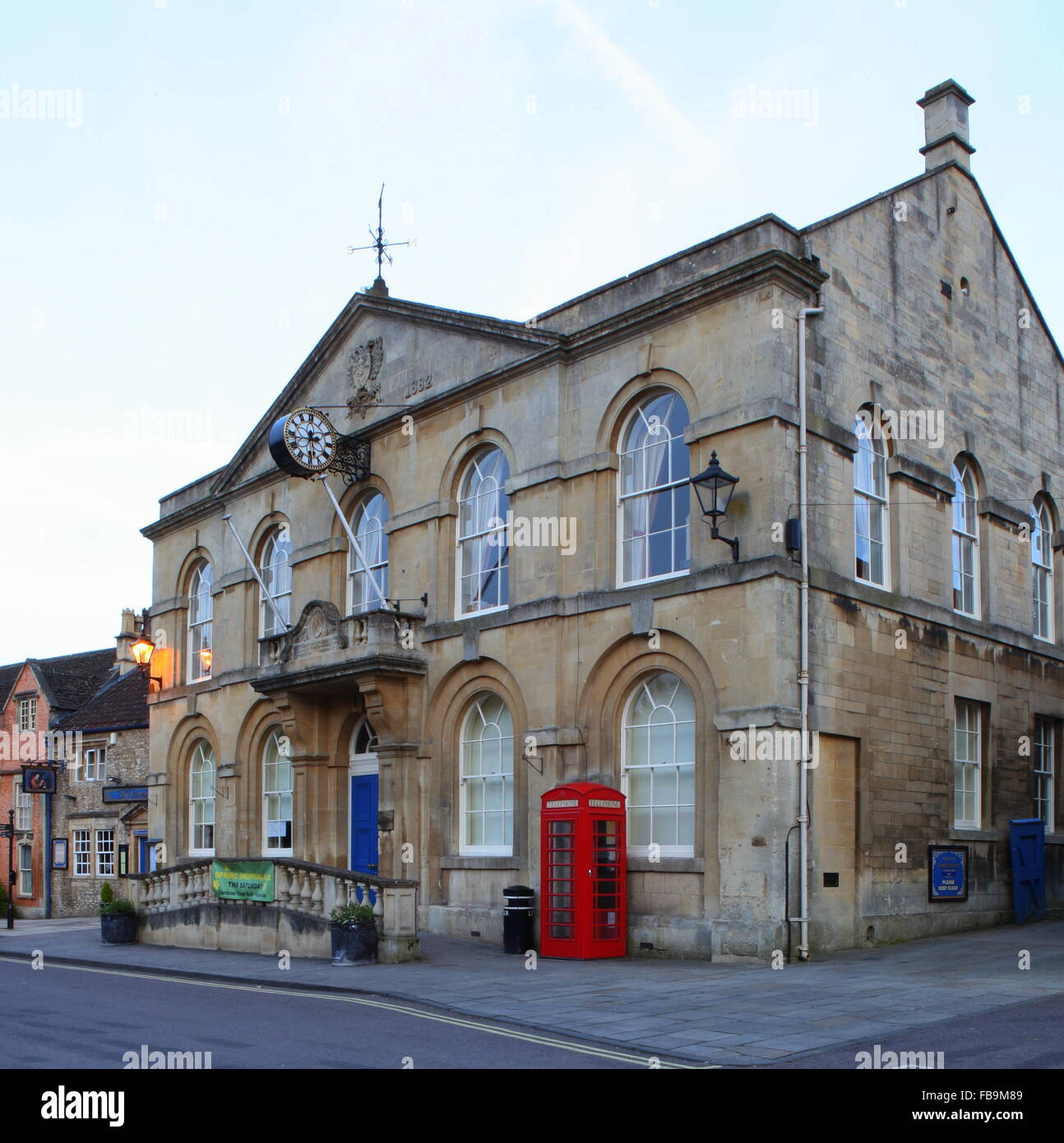 Town Hall Corsham Wiltshire England Stock Photo