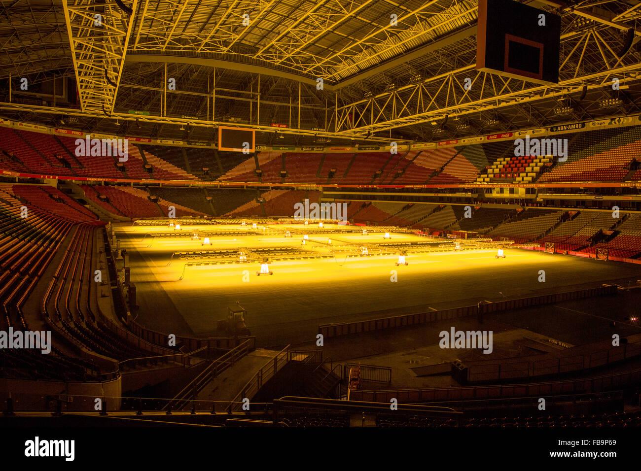 Arena in Amsterdam, home football stadium of dutch team Ajax - Stock Image