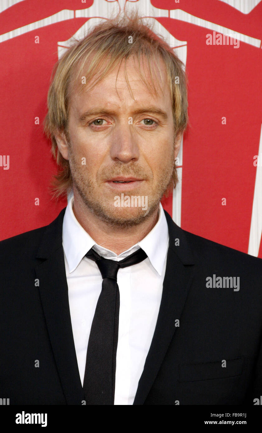 Rhys Ifans at the Los Angeles premiere of 'The Amazing Spider-Man' held at the Westwood Village Theater - Stock Image