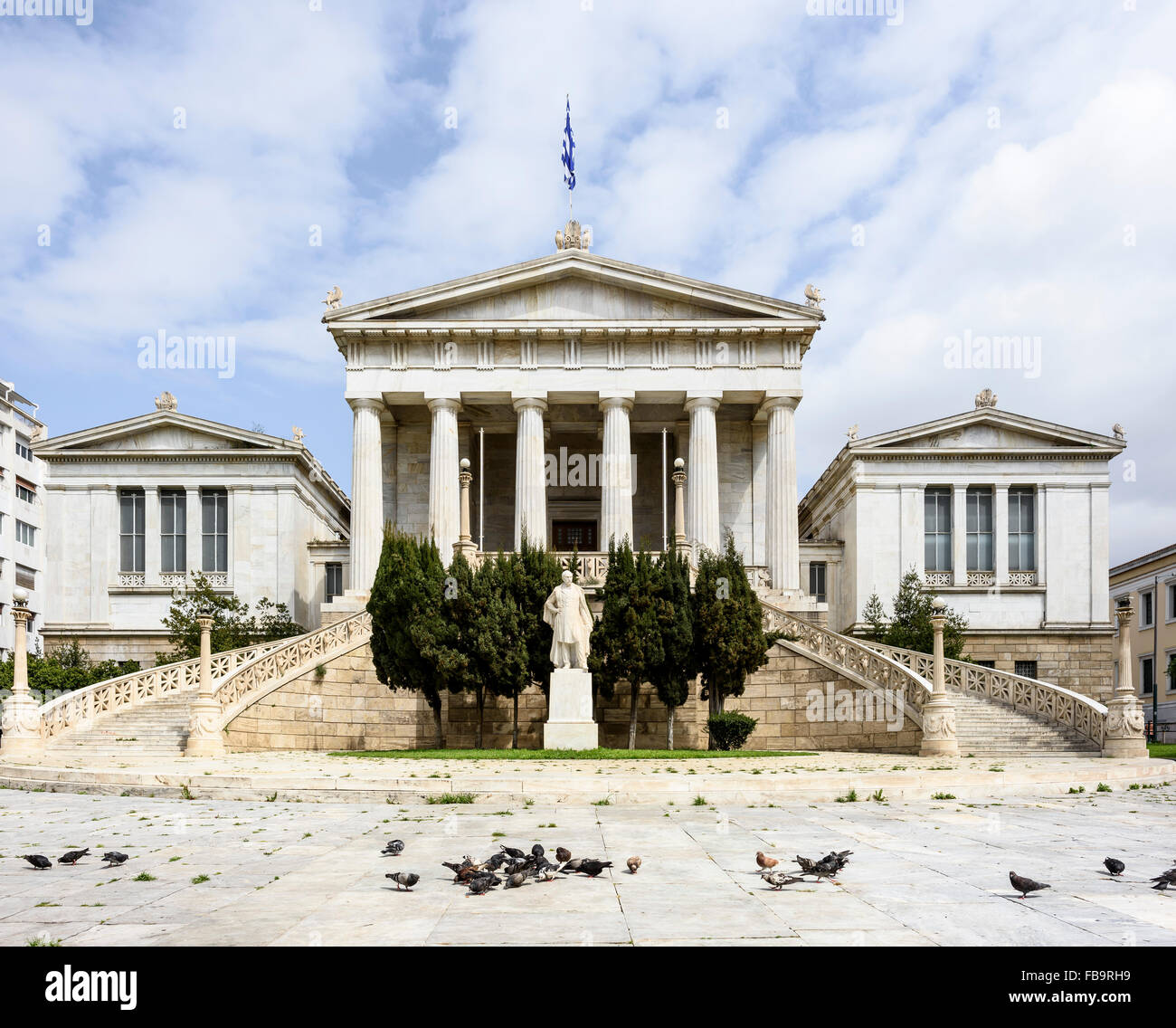 The National Library of Greece. Institutions of Athens, Athens, Greece. Architect: N/A, 2015. Stock Photo