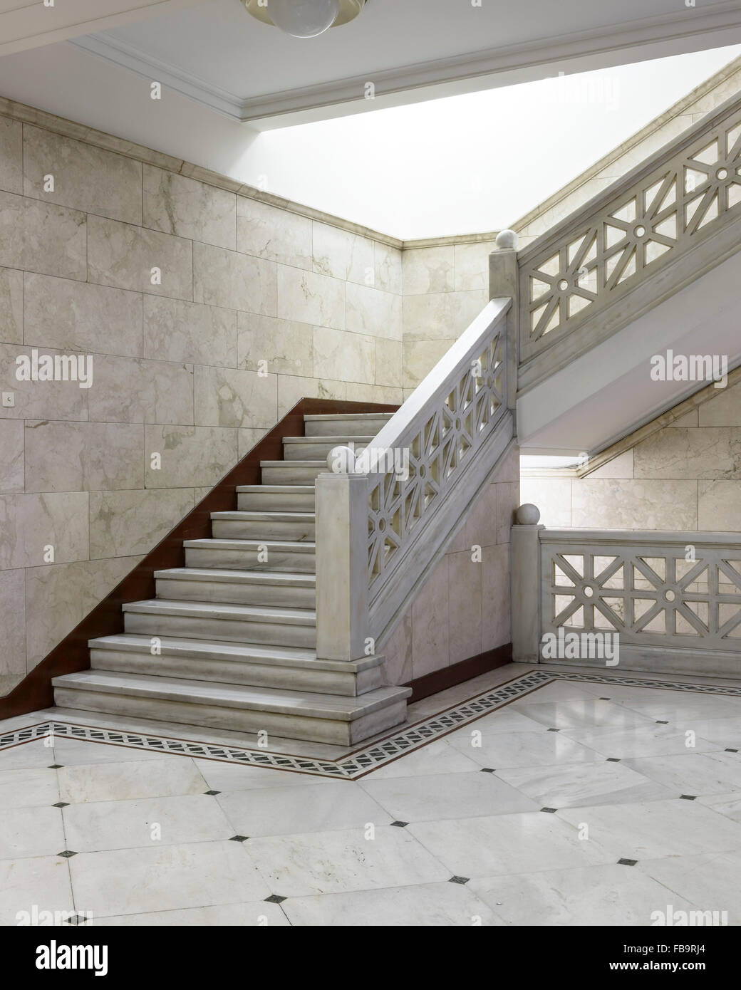 Staircase at the Archeological Society at Athens. Institutions of Athens, Athens, Greece. Architect: N/A, 2015. Stock Photo
