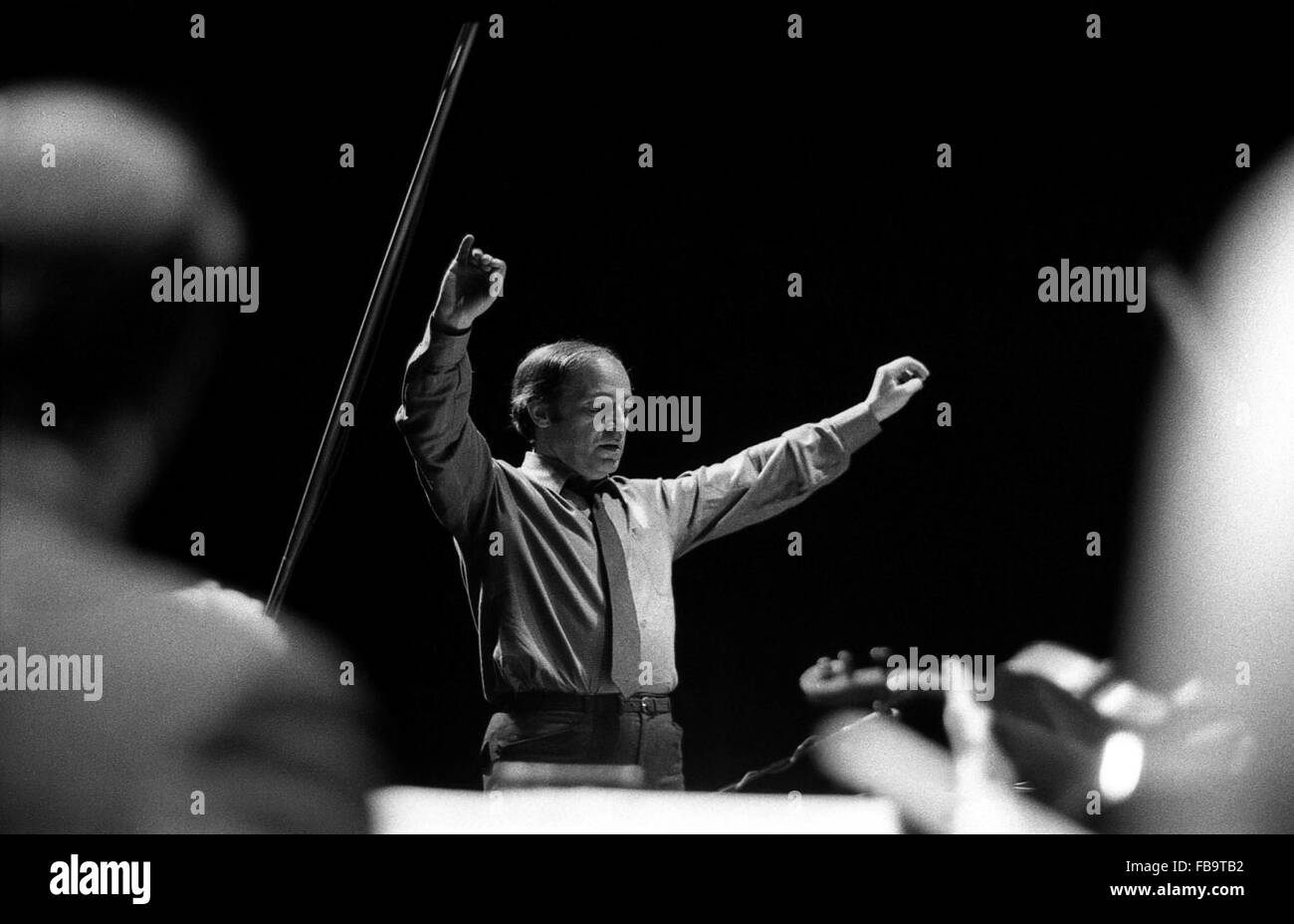 The french conductor Pierre BOULEZ. -  1972  -  France / Ile-de-France (region) / Paris  -  The french conductor - Stock Image