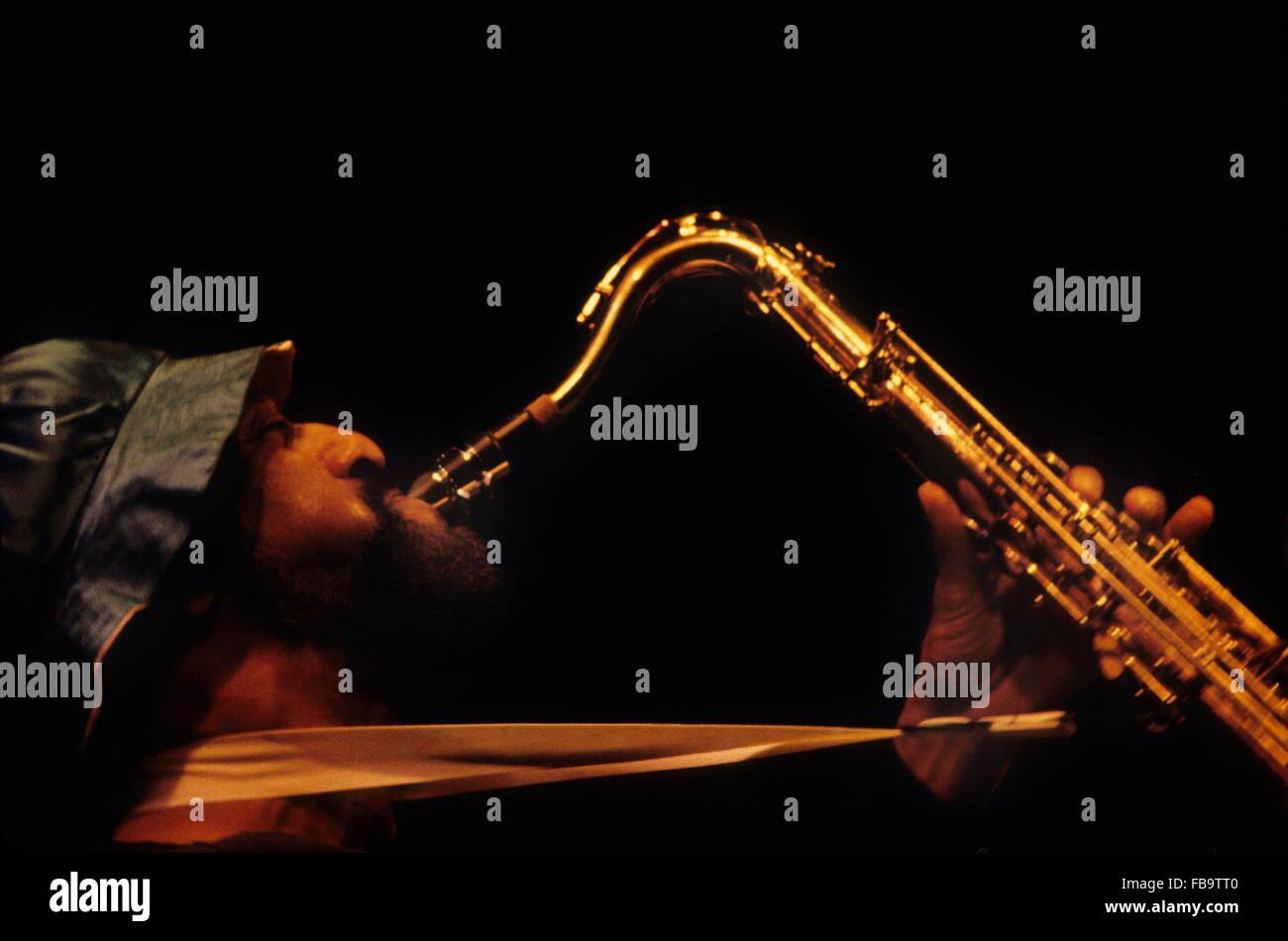 Sonny ROLLINS : one of the greatest Jazz saxophonist.  -  1979  -  France / Ile-de-France (region) / Paris  -  Sonny - Stock Image