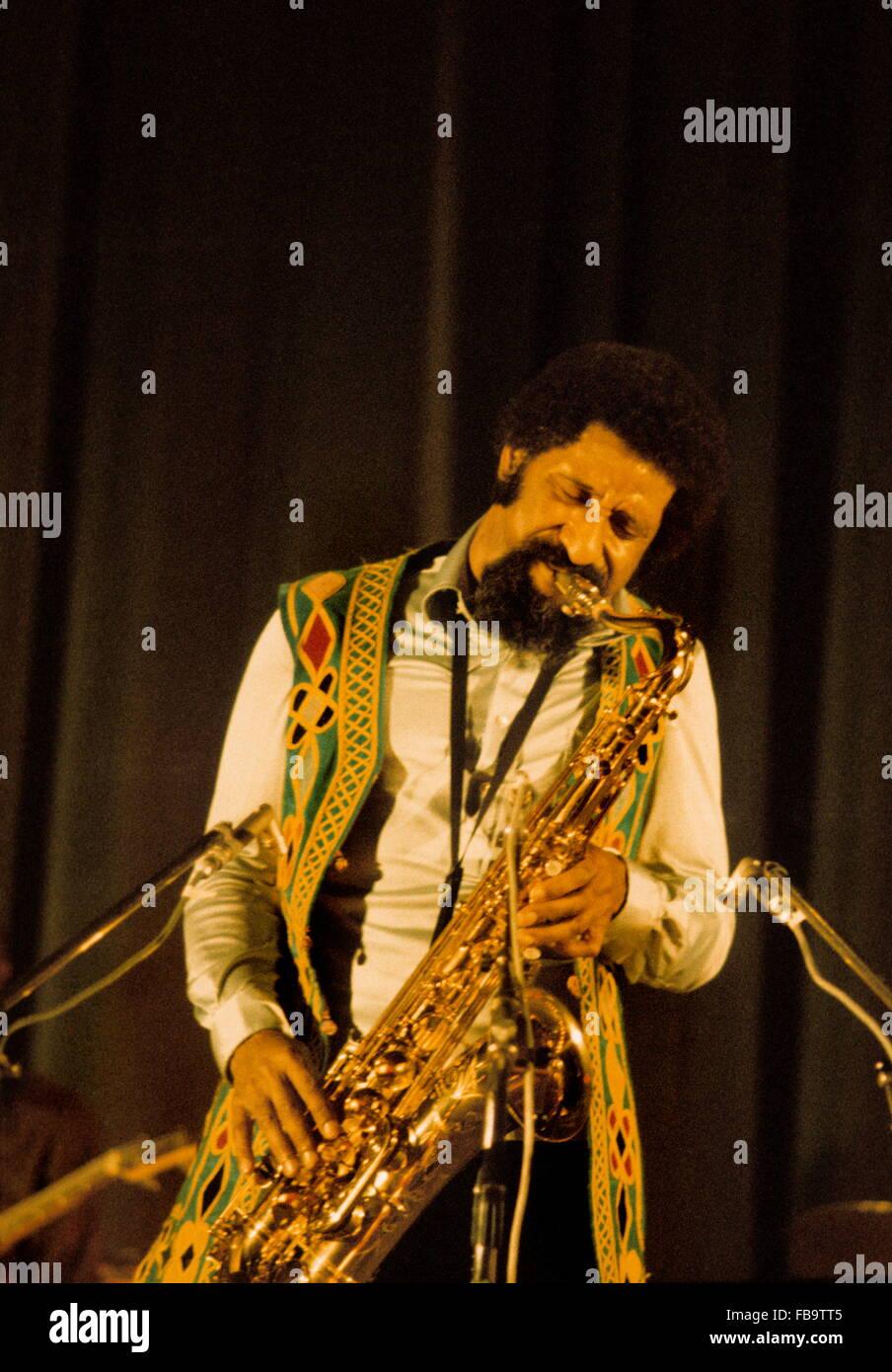 The saxophone player Sonny ROLLINS. -  1974  -  France / Ile-de-France (region) / Paris  -  The saxophone player - Stock Image