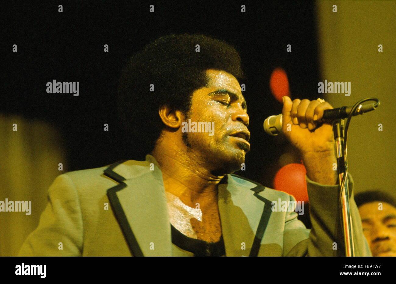 James BROWN on-stage. -  1971  -  France / Ile-de-France (region) / Paris  -  James BROWN on-stage. -  James BROWN - Stock Image