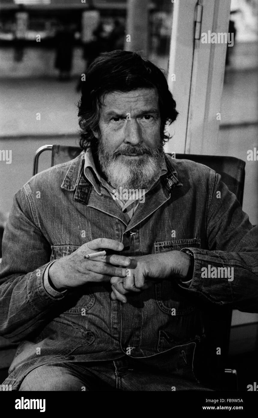 The artist John CAGE. -  1978  -  France / Ile-de-France (region) / Paris  -  The artist John CAGE. -  John CAGE - Stock Image