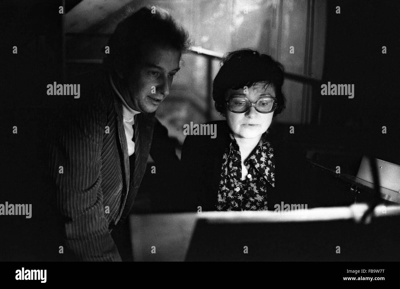 Dieter Schnebel, Paris, 1975 -  1975  -  France / Paris  -  Dieter Schnebel, Paris, 1975   -  Philippe Gras / Le - Stock Image