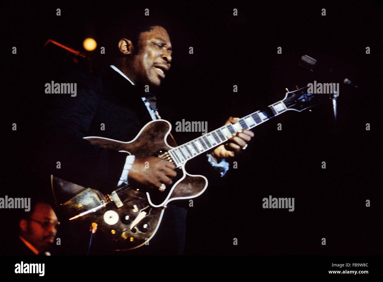 B.B.King, in  concert in Paris,1968 -  1968  -  France / Ile-de-France (region) / Paris  -  B.B.King, in  concert - Stock Image