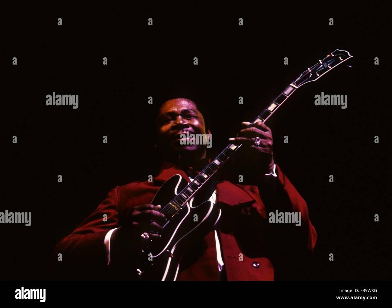 B.B.King, in  concert in Paris,1968 -  1968  -  France / Ile-de-France (region) / Paris  -  B.B.King, in  concert Stock Photo