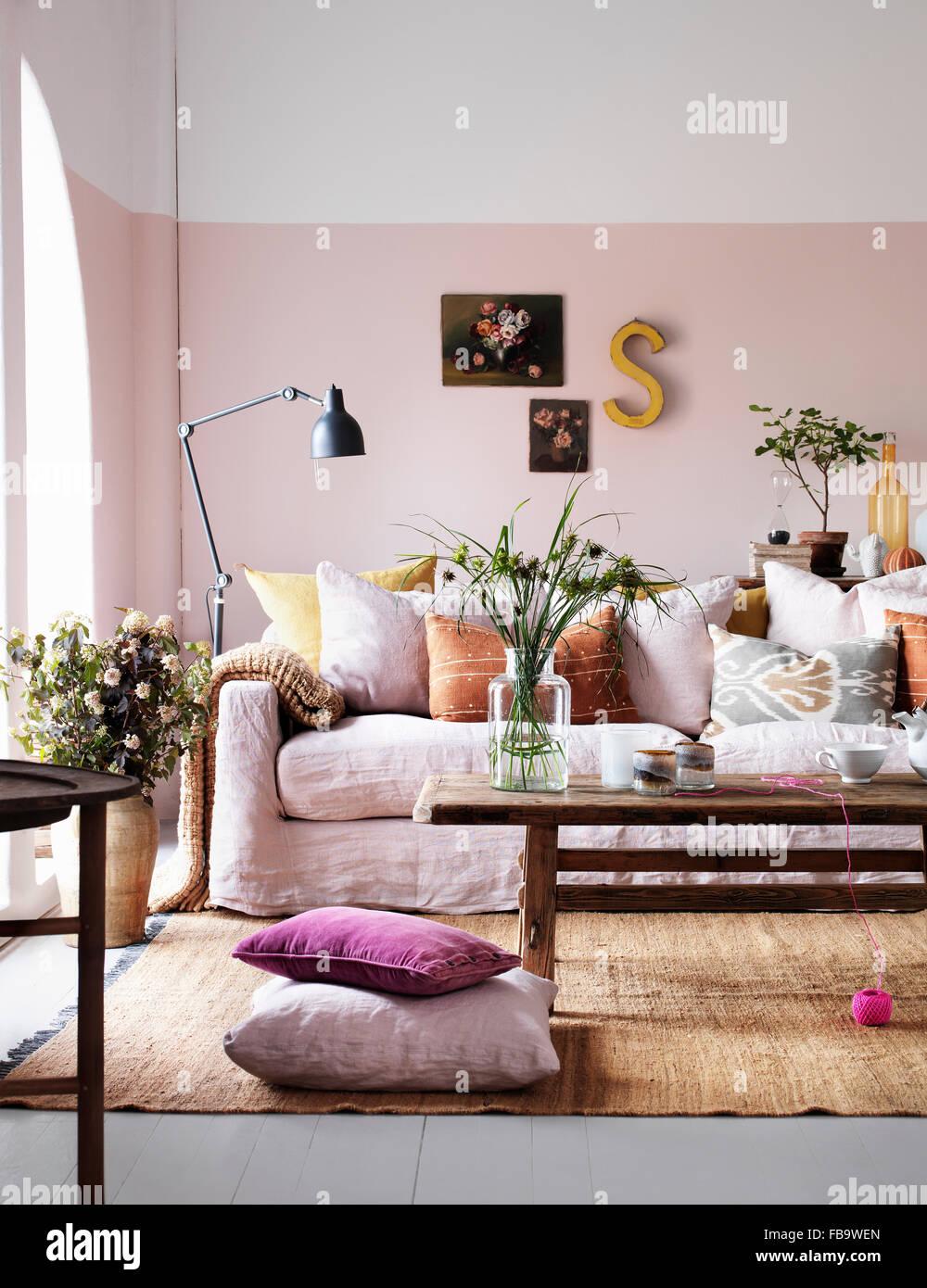View of livingroom - Stock Image