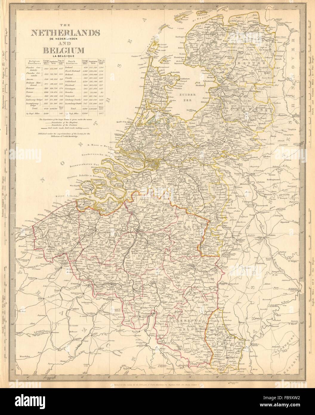 netherlands belgium w railways in use under construction sduk 1844 map