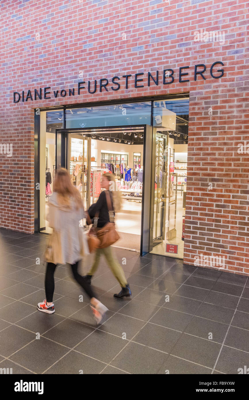 diane von furstenberg store, outlet city, metzingen, baden-wuerttemberg, germany - Stock Image