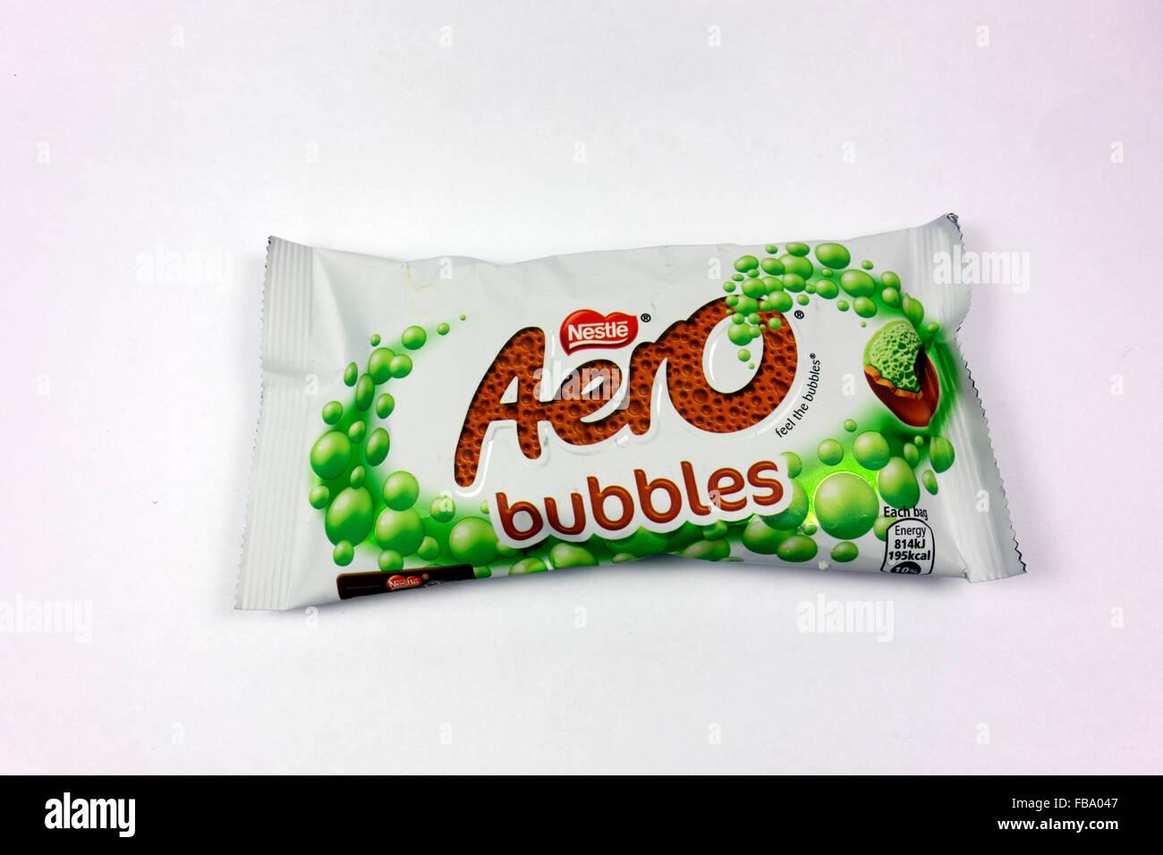 Mint Aero Bubbles. Stock Photo