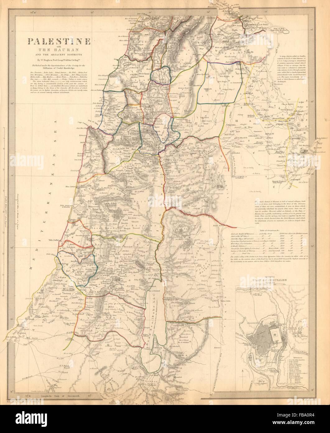 Palestine hauran israel jordan syria lebanon jerusalem plan sduk israel jordan syria lebanon jerusalem plan sduk 1844 map gumiabroncs Image collections