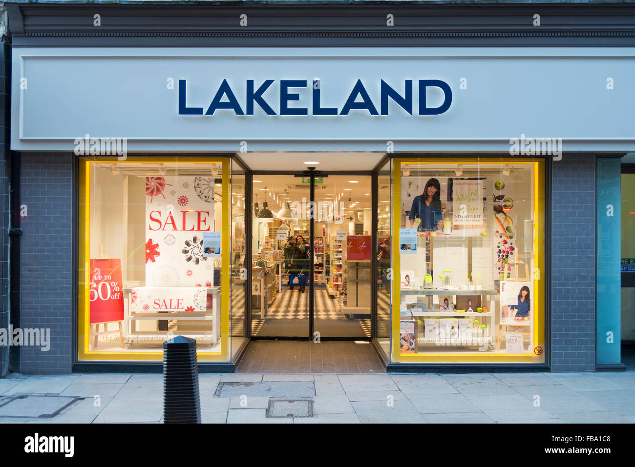 The Lakeland kitchen equipment shop St Andrews Street Cambridge UK - Stock Image