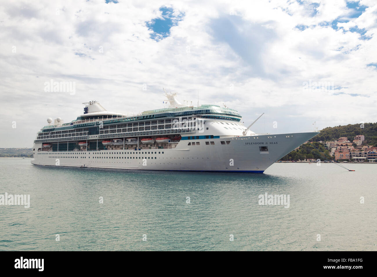 Cruise Ship Anchored In The Port Of Argostoli Kefalonia