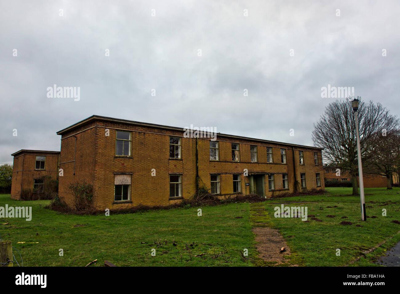 Derelict ex RAF base at West Raynham, Norfolk, UK - Stock Image