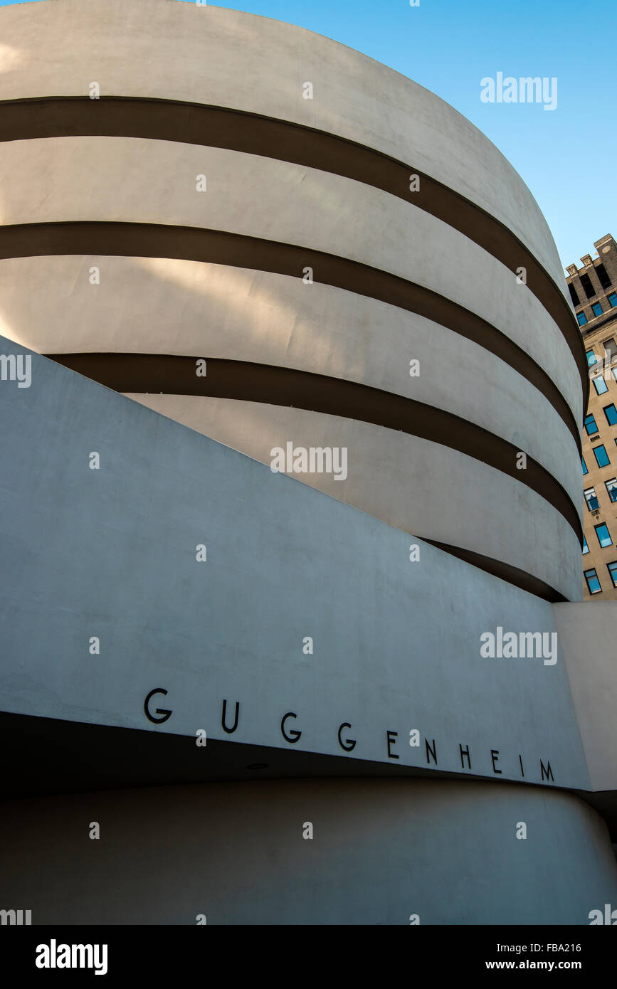 Solomon R. Guggenheim Museum, Manhattan, New York, USA - Stock Image