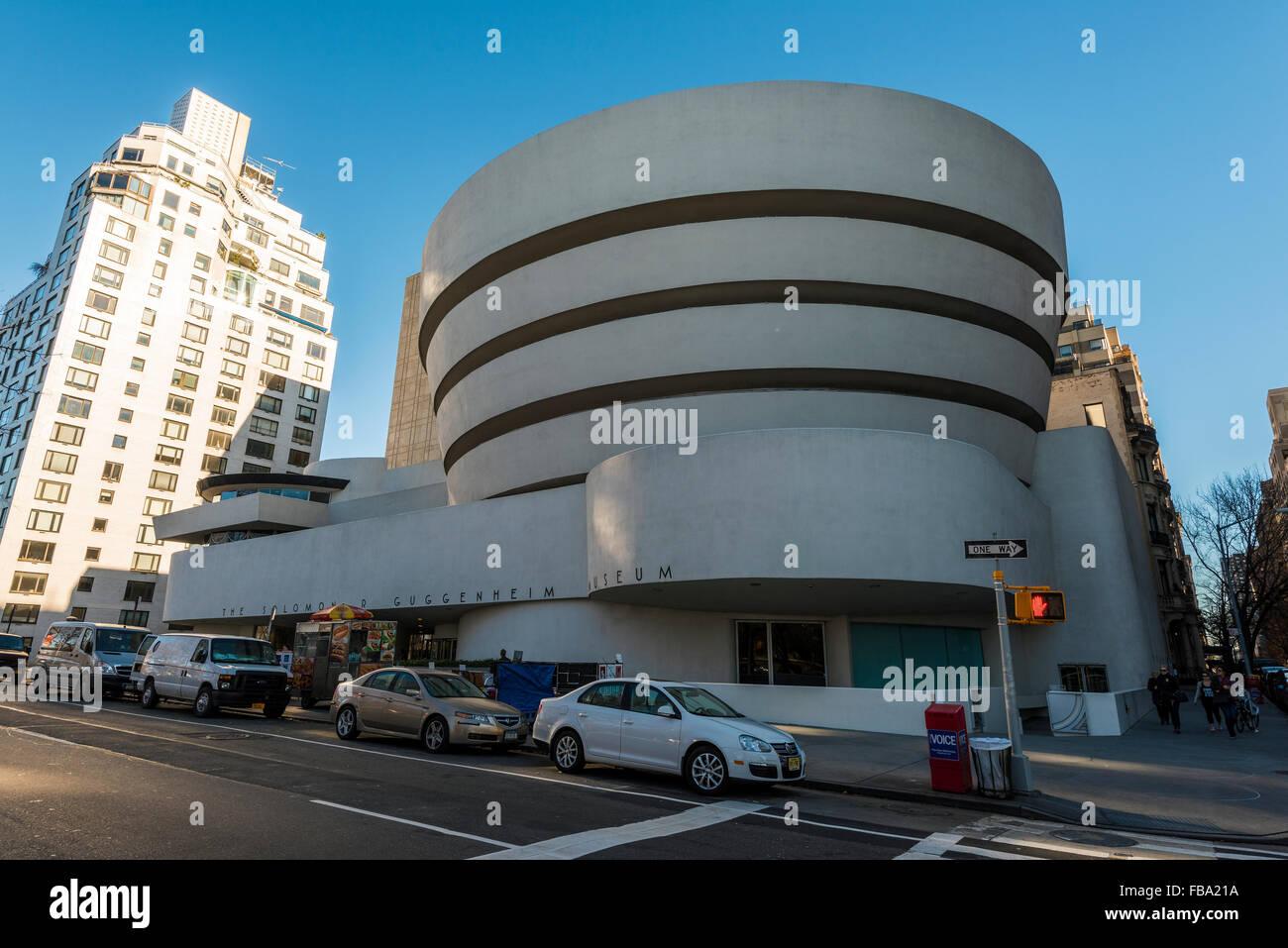 Solomon R. Guggenheim Museum, Manhattan, New York, USA - Stock Image
