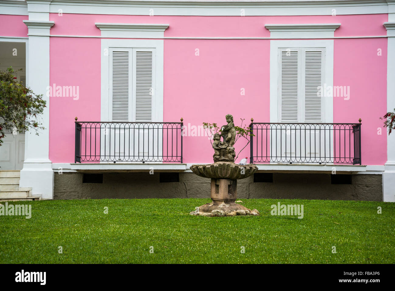 Old Outside Pink Colour State Of Rio De Janeiro Traditional Stock ...