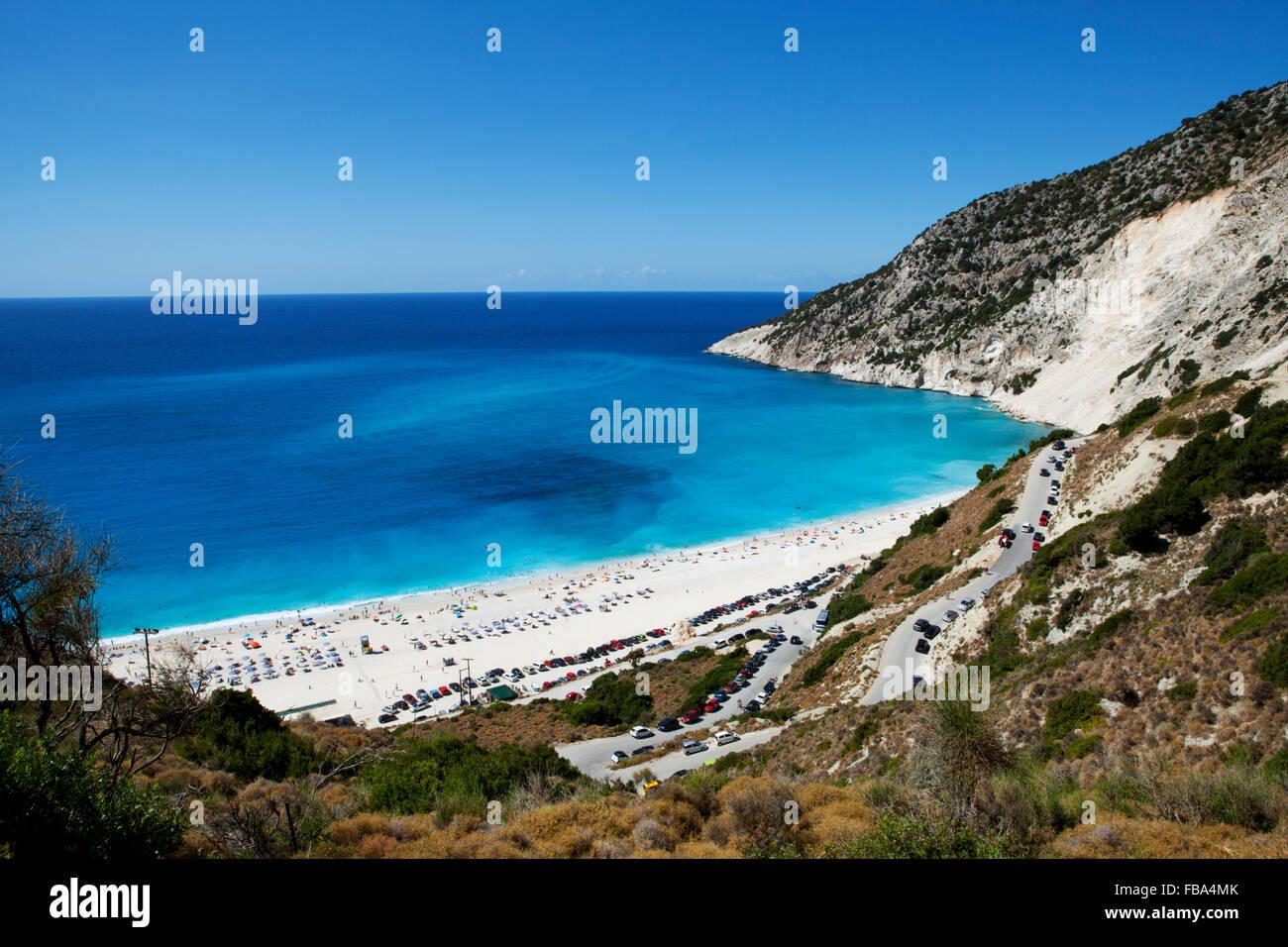 Myrtos beach, Kefalonia, Ionian Islands, Greece - Stock Image