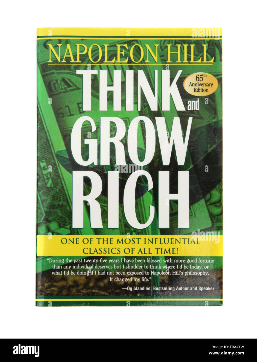 The book - Think and Grow Rich by Napoleon Hill - Stock Image