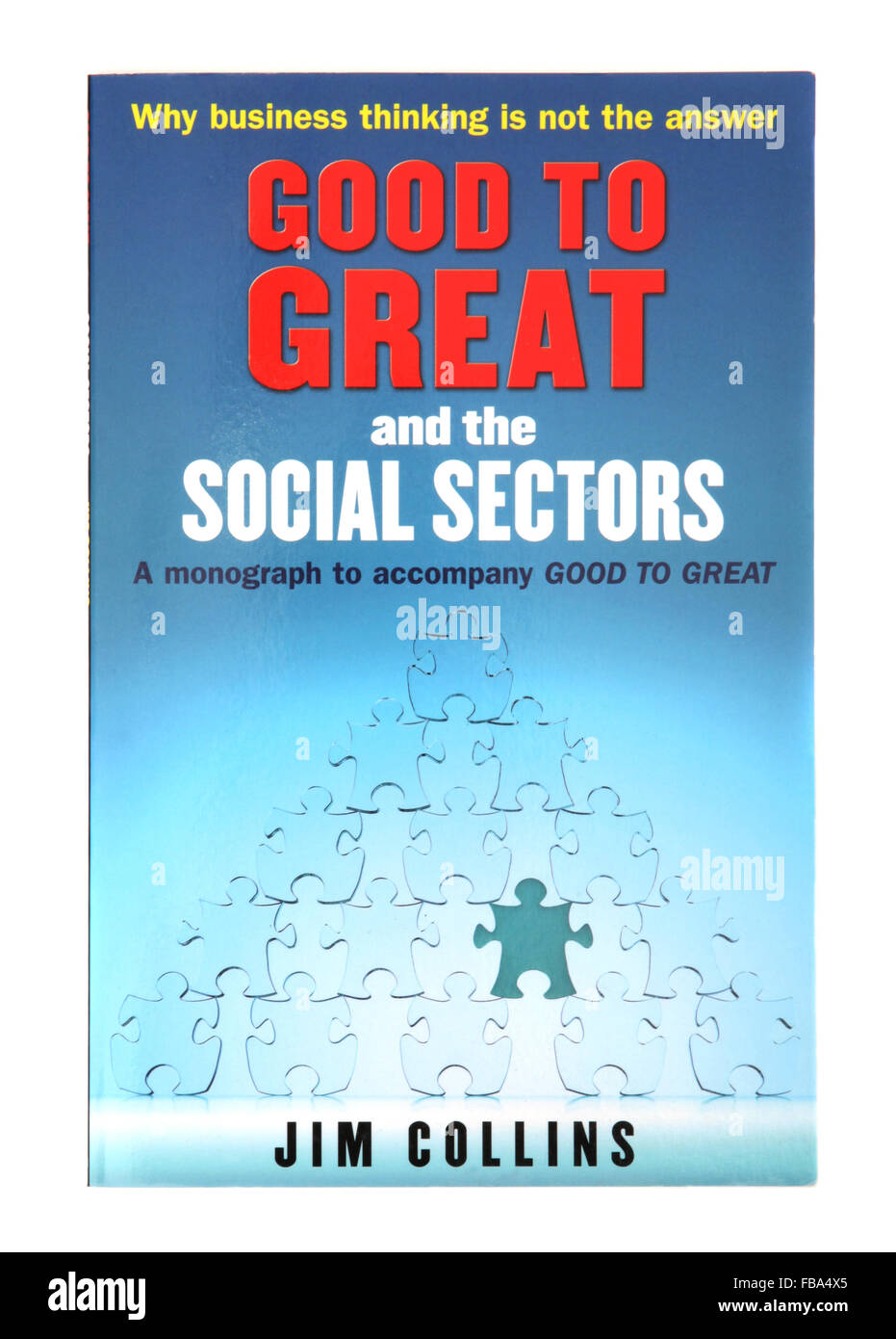 The book - Good to Great and the Social Sectors by Jim Collins - Stock Image