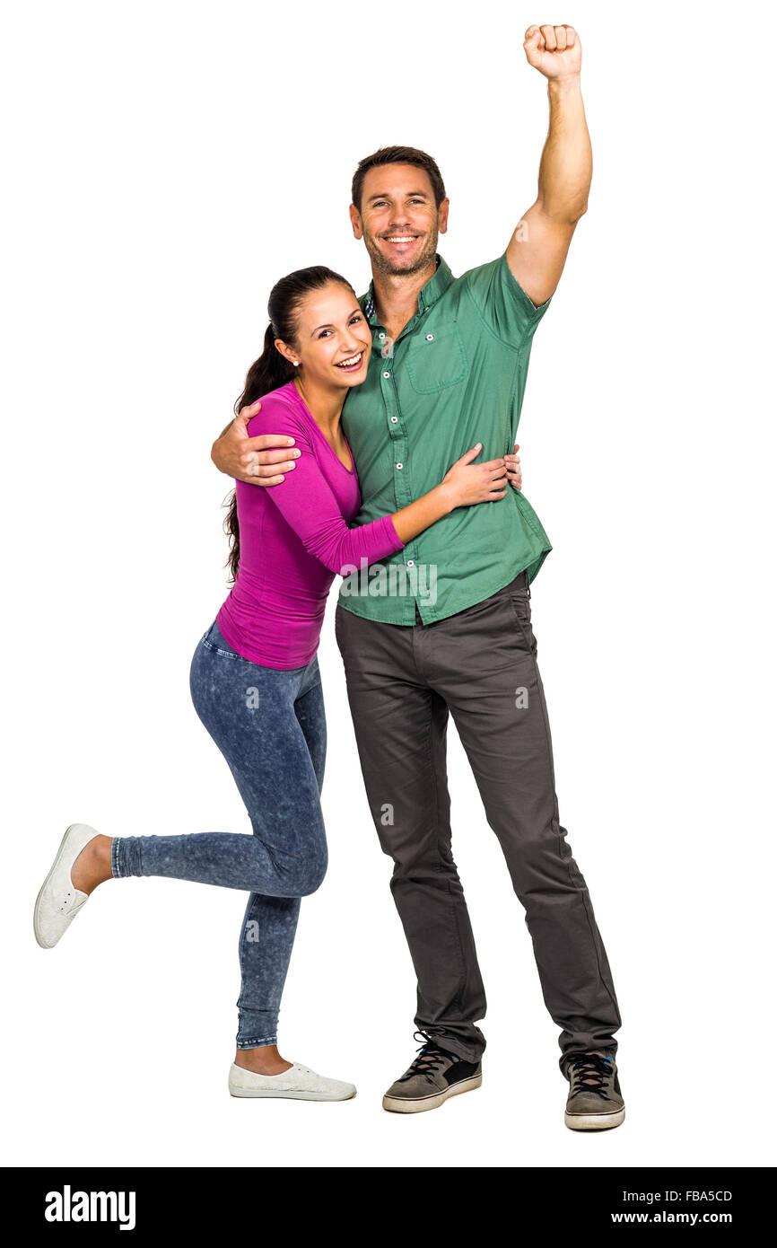 Happy couple rejoicing - Stock Image
