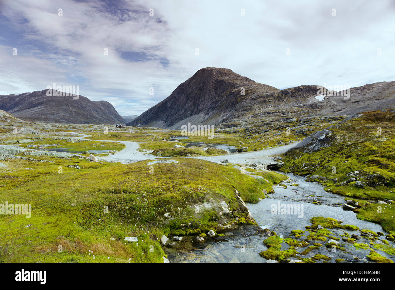 Norway, More og Romsdal, Sunnmore, Scenic view of landscape - Stock Image