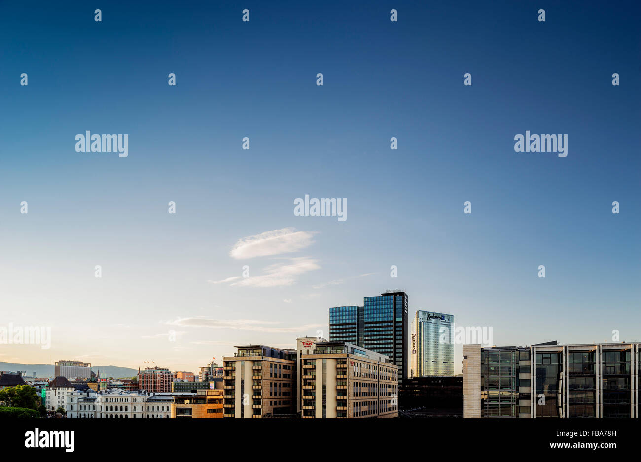 Norway, Oslo, Bjorvika, View of cityscape - Stock Image